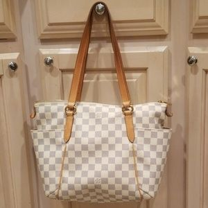 Authentic Louis Vuitton Damier Azur Totally PM